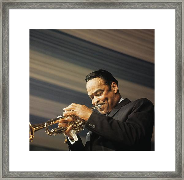 Buck Clayton Performs On Stage Framed Print
