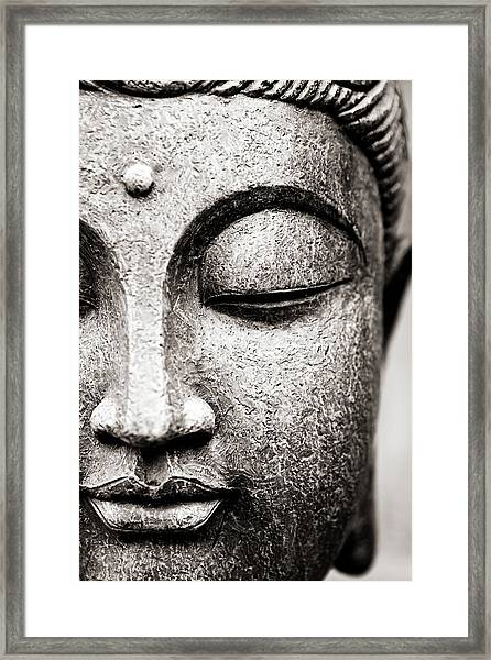 Buddha Face Framed Print by Maodesign