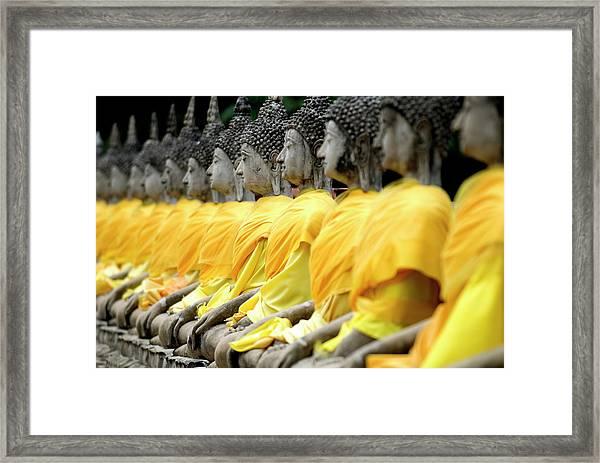 Buddha Statues, Ayuthaya, Thailand Framed Print by Rod Porteous / Robertharding