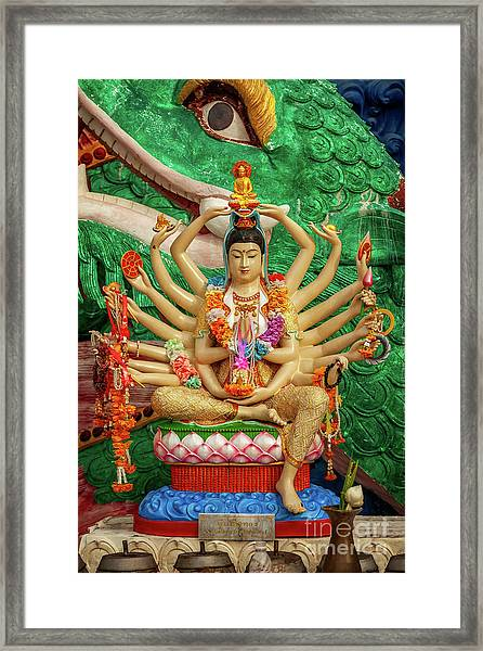 Buddhist Goddess Framed Print