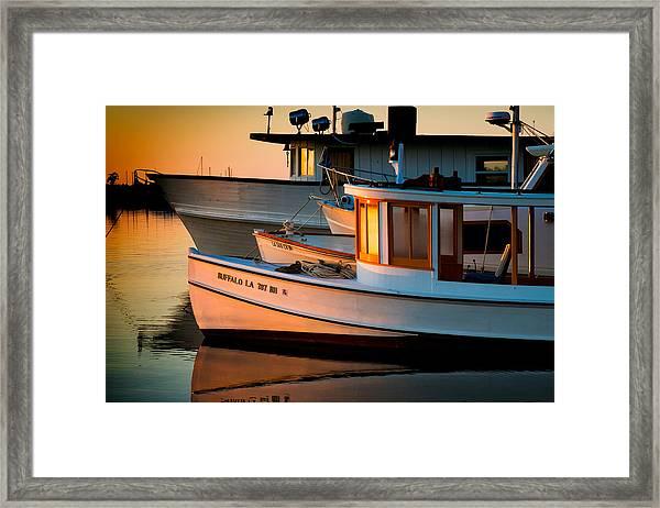 Buffalo Boat Framed Print
