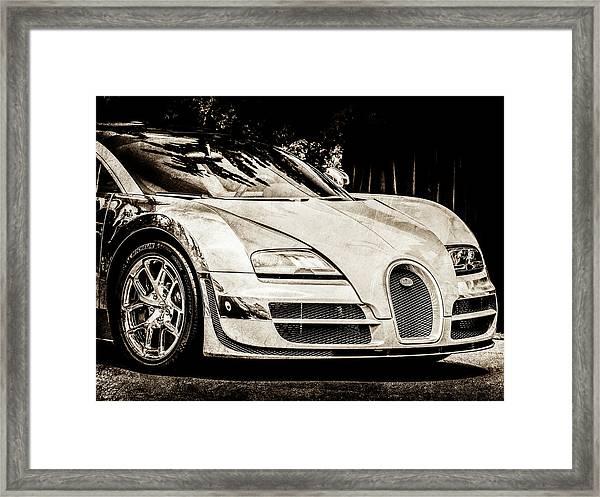 Bugatti Legend - Veyron Special Edition -0844scl2 Framed Print