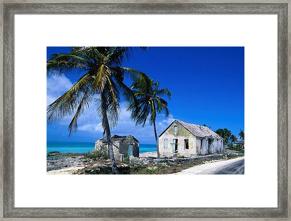 Buildings From An Old Settlement On The Framed Print