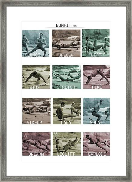 Bum Fit Beach Workout  Framed Print