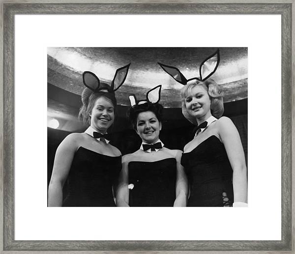 Bunny Girls Framed Print