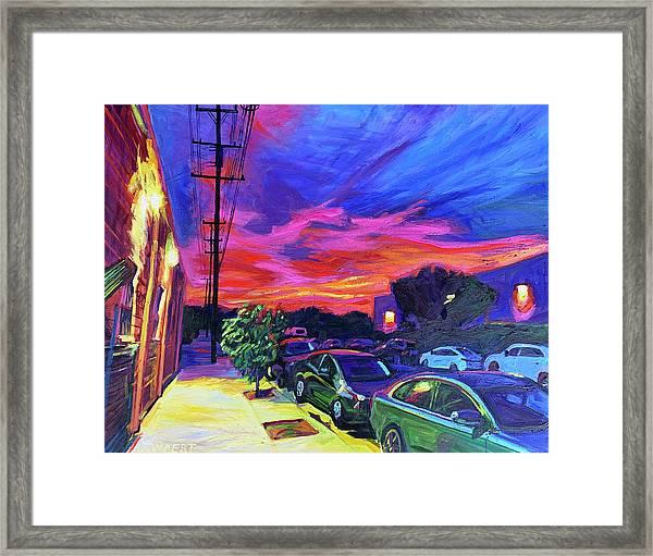 Burbank Blaze Framed Print