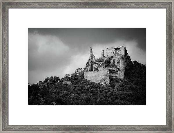 Burgruine Durnstein Framed Print
