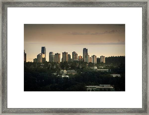 Burnaby Dusk Framed Print