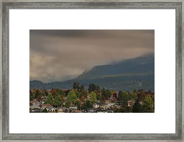 Framed Print featuring the photograph Burnaby Mountain by Juan Contreras