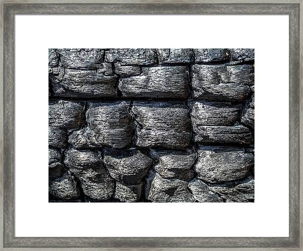 Framed Print featuring the photograph Burnt Wood 1 by Dawn Richards