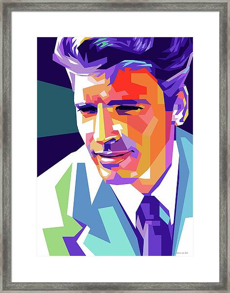 Burt Lancaster Pop Art Framed Print