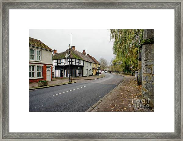 Bury St Edmunds Street Framed Print
