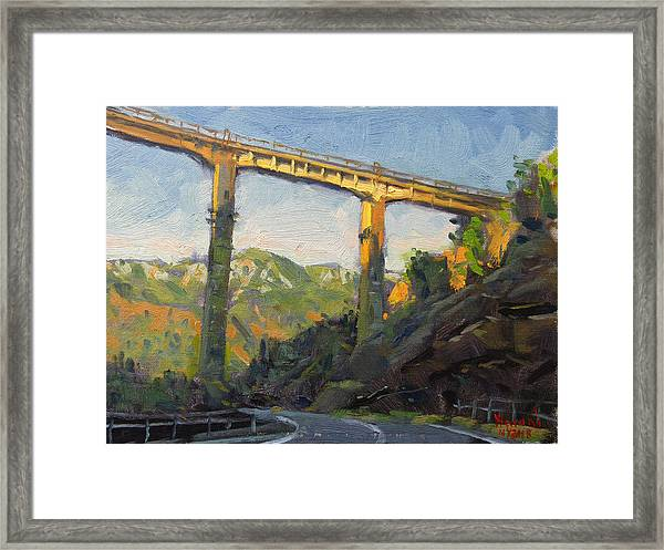 Bushtrica Bridge Albania Framed Print