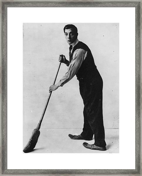 Buster Brushes Framed Print