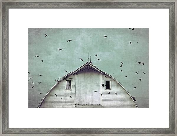 Busy Barn Framed Print