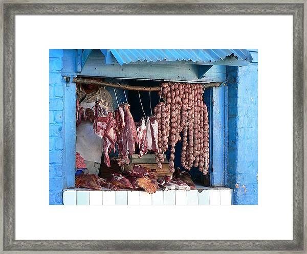 Butcher Shop Framed Print