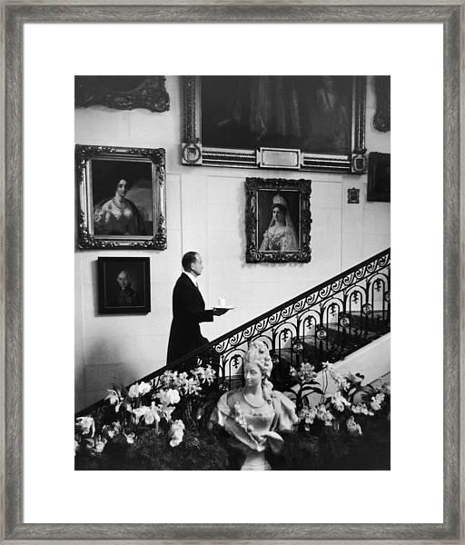 Butler At Hillwood Estate Framed Print