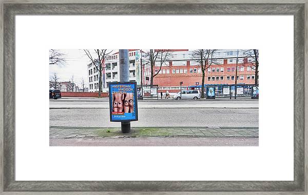 Butt Framed Print