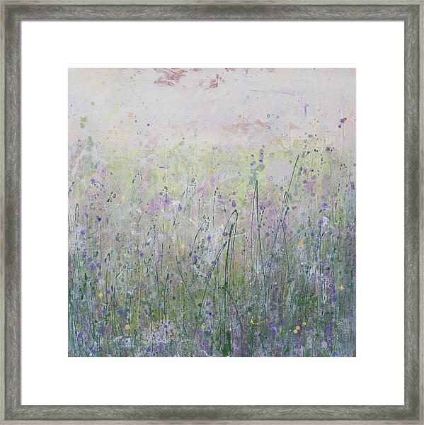 Buttercups And Bluebells Framed Print