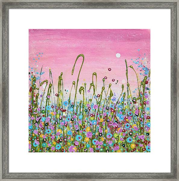Buttercups And Lilacs Framed Print
