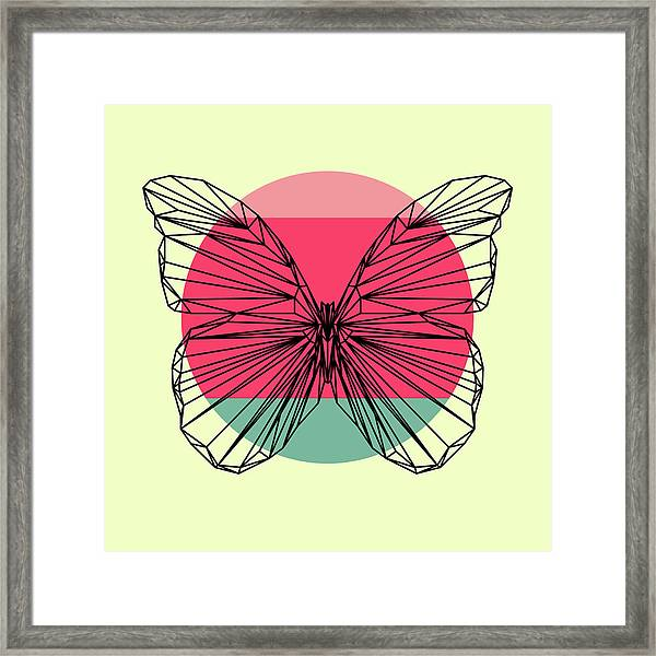 Butterfly And Sunset Framed Print