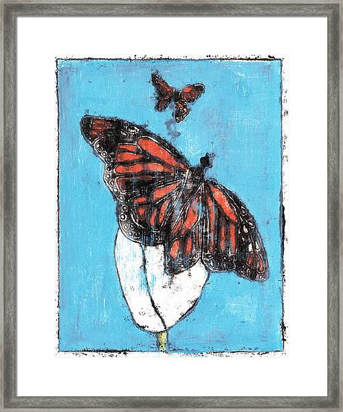Butterfly Garden Summer 1 Framed Print