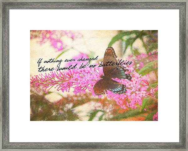 Butterfly Kisses Quote Framed Print