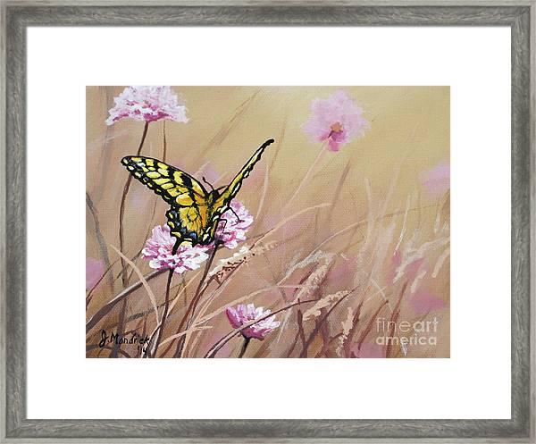 Butterfly Meadow - Part 1 Framed Print