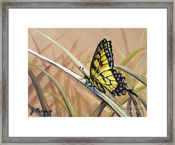 Butterfly Meadow - Part 2 Framed Print