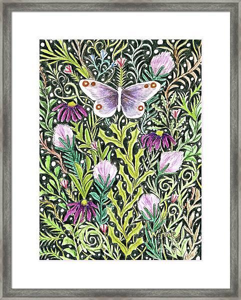 Butterfly Tapestry Design Framed Print
