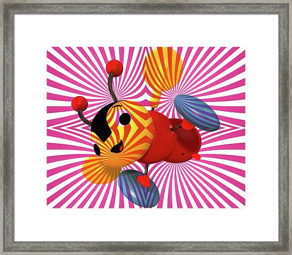 Buzzie Bee Icon Framed Print