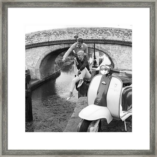 By The Lock Framed Print