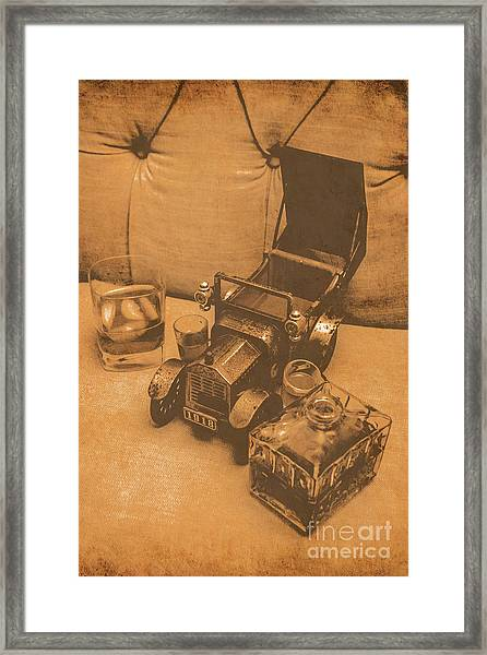Bygone Bourbon Framed Print
