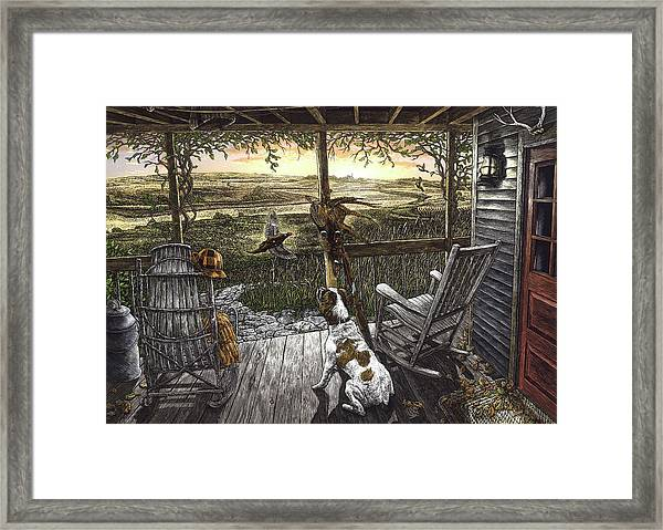 Framed Print featuring the drawing Cabin Fever by Clint Hansen