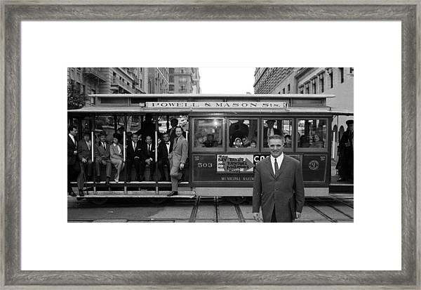 Cable Car Celebs Framed Print by Slim Aarons