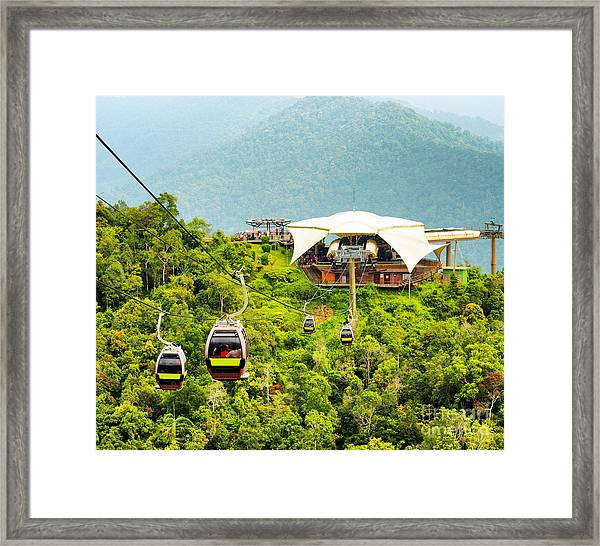 Cable Car On Langkawi Island, Malaysia Framed Print by Efired
