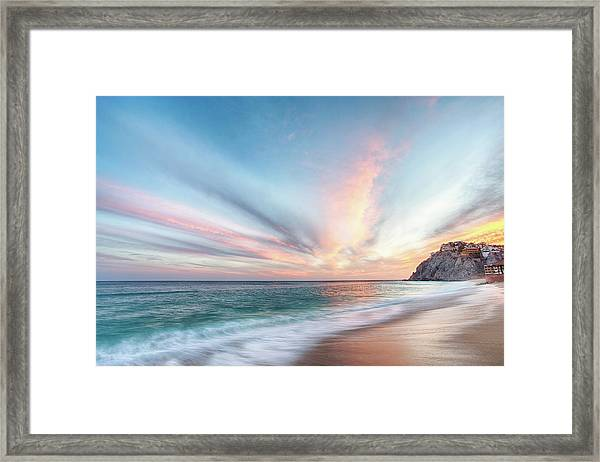 Cabo San Lucas Beach Sunset Mexico Framed Print
