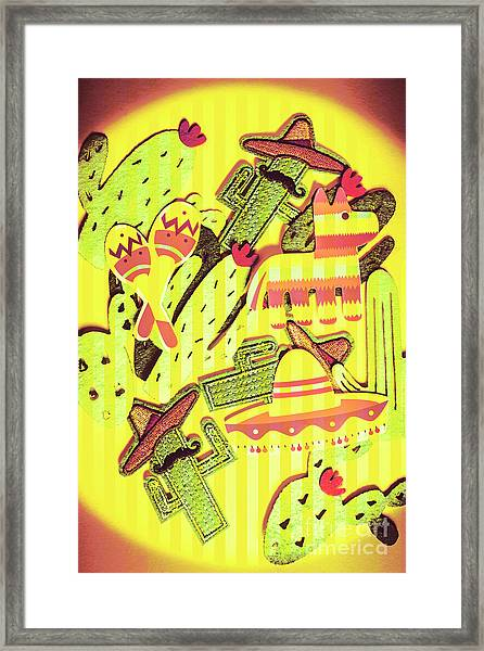 Cactus Carnival Framed Print