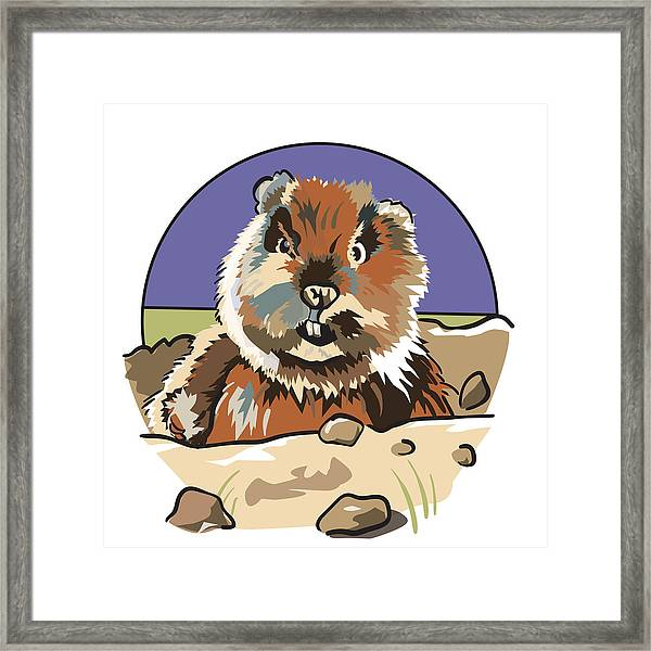Caddyshack Gopher Framed Print