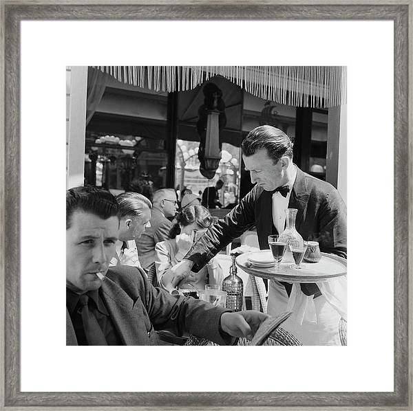 Cafe Culture Framed Print by Bert Hardy