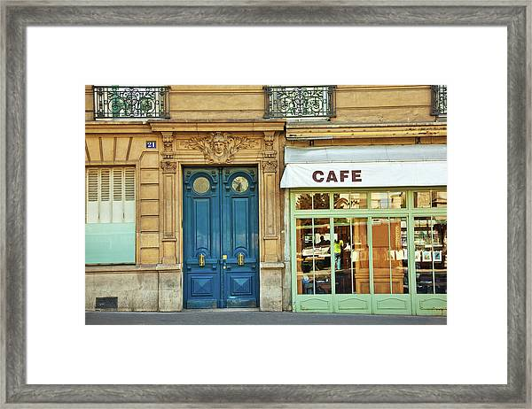 Cafe In Paris Framed Print