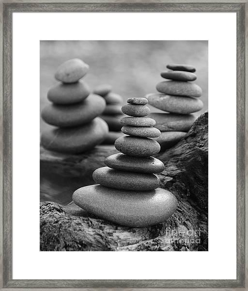 Cairn Gathering Framed Print