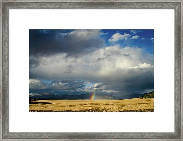 Caldera Rainbow Framed Print