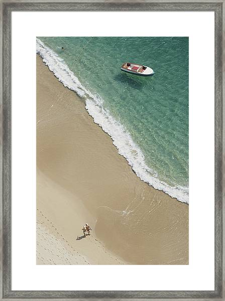 Caleta Beach, Acapulco Framed Print by Slim Aarons