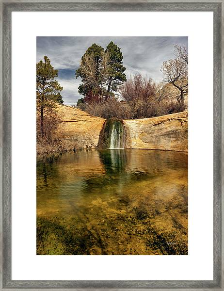 Calf Creek Pool Framed Print by Leland D Howard