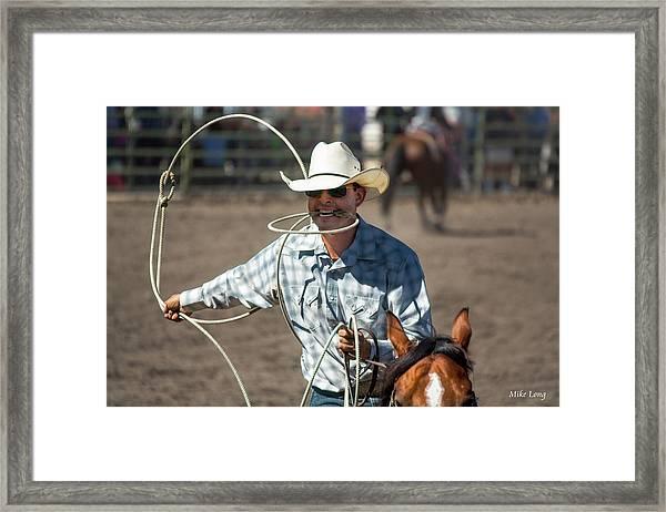 Calf Roper Framed Print