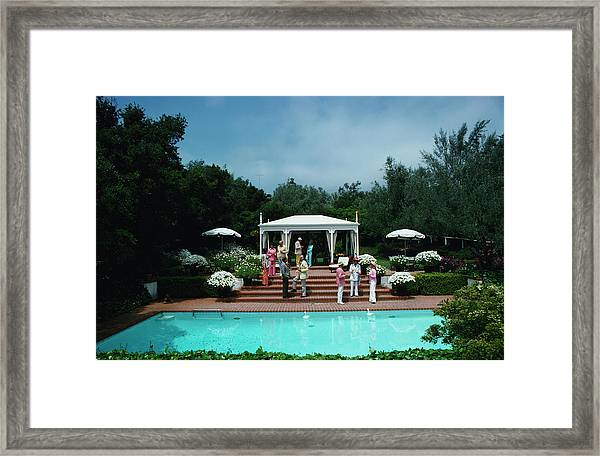 California Garden Party Framed Print