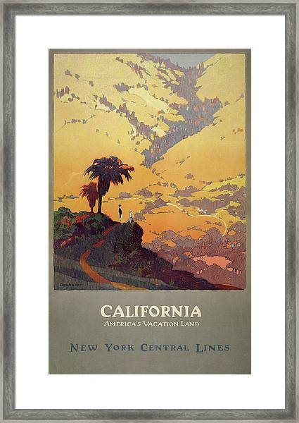 California Travel Poster Framed Print