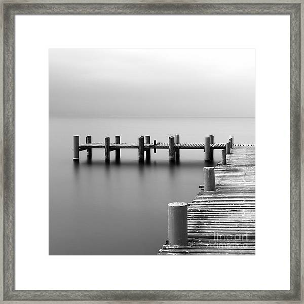Calm Scene In Black And White With Framed Print
