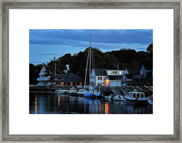 Camden Maine Twightlight Framed Print